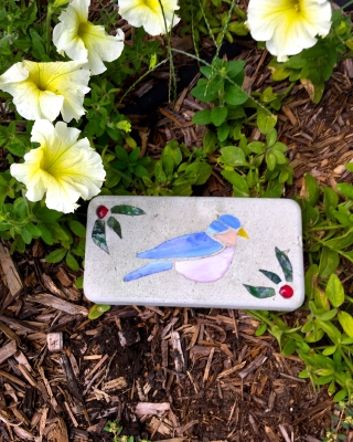 Stained Glass Bluebird 16x20