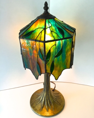 Stained Glass Tree Lamp 16x20